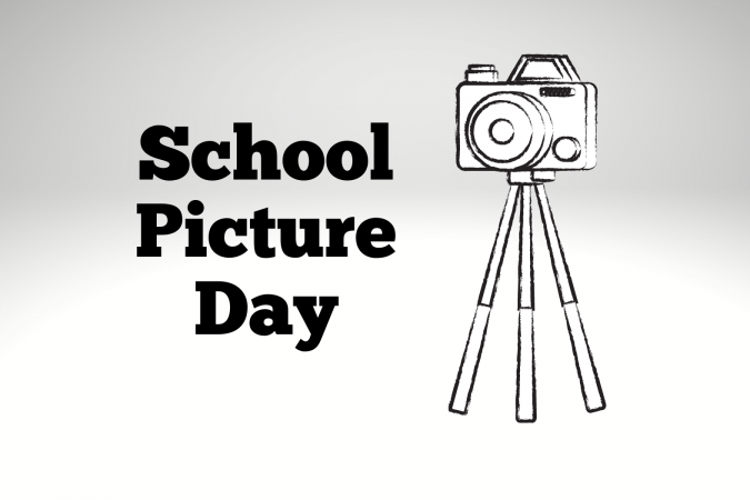 Camera-Text School Picture Day